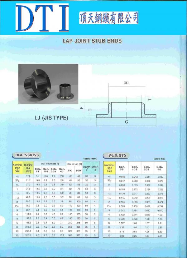 Stub End / Lap Joint /Stainless Steel Stub End
